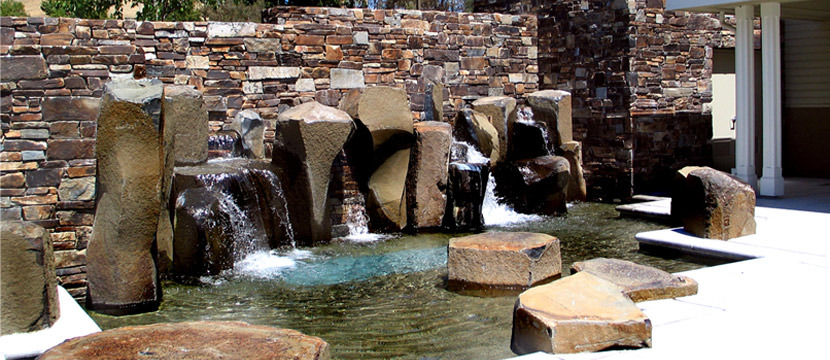 East Bay Fellowship, Stone Wall & Fountains