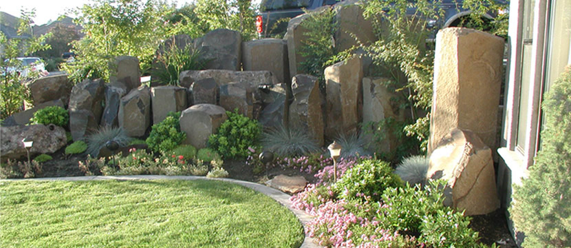 Basalt Columns in Residential Setting